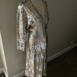 NWT Zara sequin midi dress